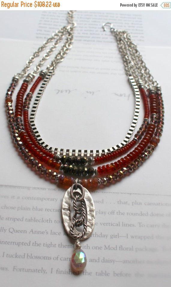 necklace hessonite garnet necklace carnelian necklace