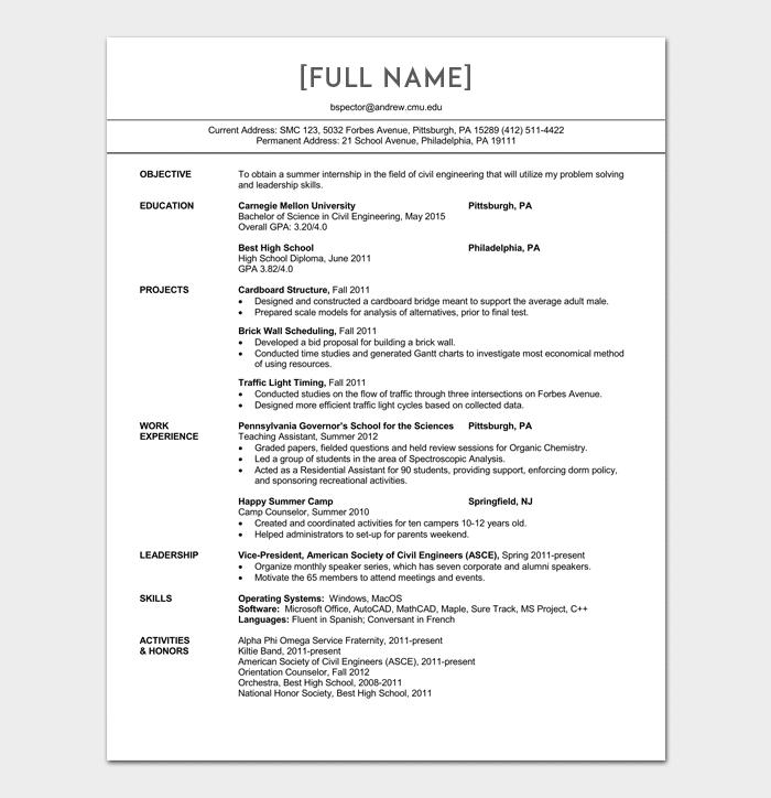 Resume Sample Of Fresh Graduate Civil Engineer Resume Engineering Resume Sample Resume