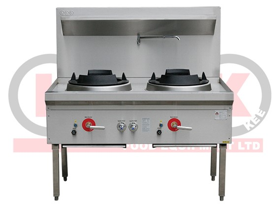 LKK 2 Burner Waterless Gas Wok Cooking equipment, Food