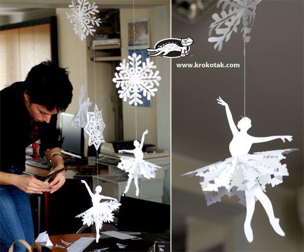 bailarinas para grandes flocos de neve
