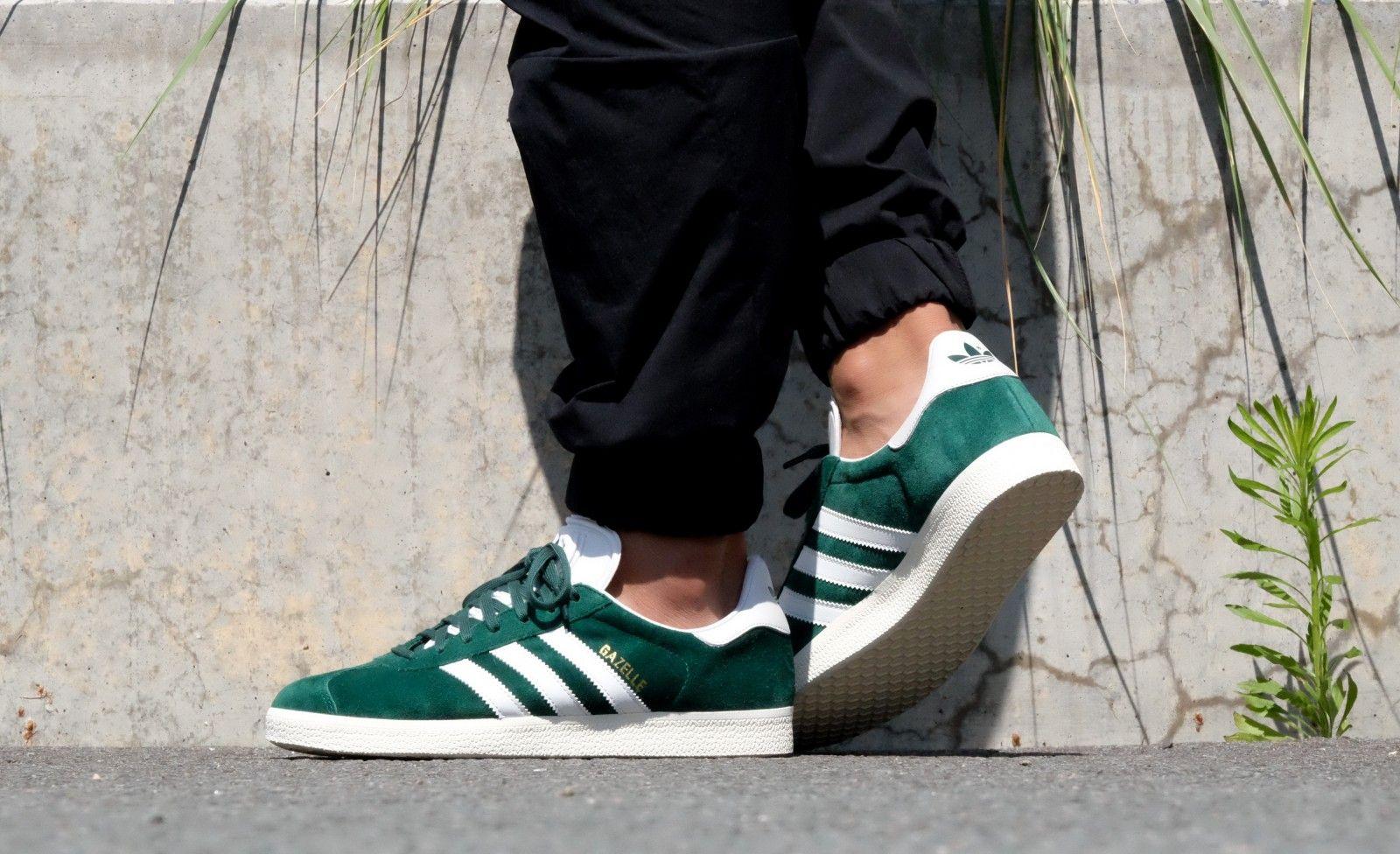 Adidas Gazelle Collegiate Green / Vintage White   Adidas gazelle ...