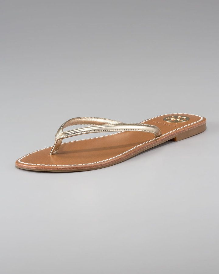 Tory Burch Abitha Leather Flip-Flop on shopstyle.com