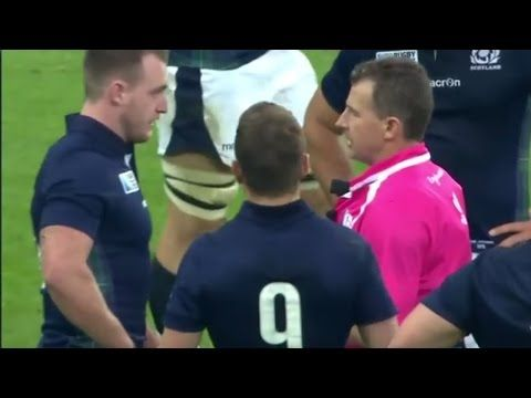 Nigel Owens Tells Off Scotland S Stuart Hogg For Diving Rugby Rules Welsh Rugby Stuart Hogg