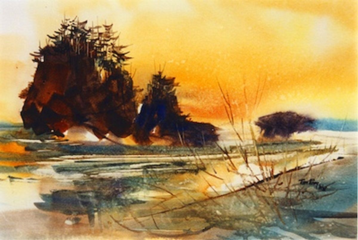 Tom Fong Landscape Paintings Famous Watercolor Artists Ocean