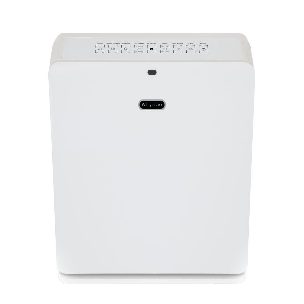 Whynter Ecopure Hepa System Air Purifier In Pearl Pearl White Air Purifier