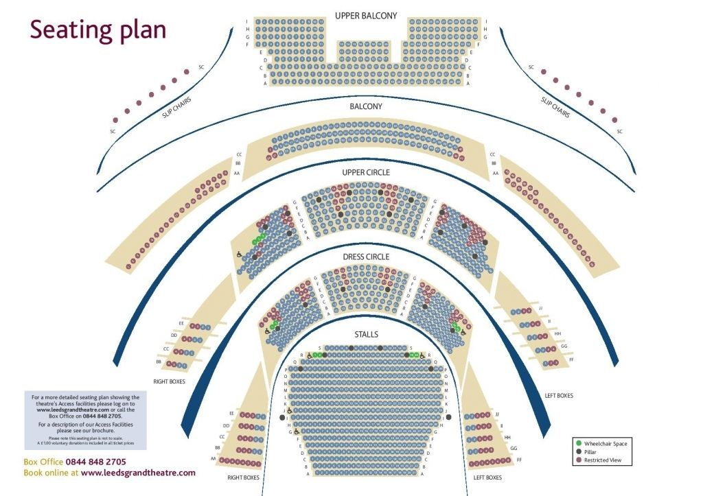 West Yorkshire Playhouse Seating Plan Seating Plan How To Plan Town Hall