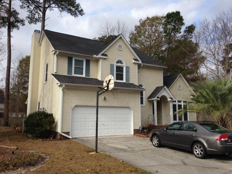 Here is a roof we finished in Summerville, on Essex Drive