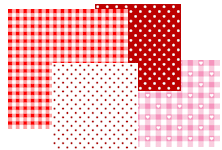 free printable red and pink pattern papers - Bastelpapier Muster