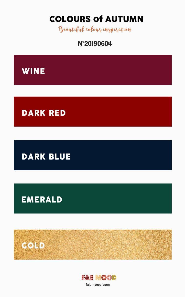 Wine + Dark Red + Dark Blue + Emerald and Gold