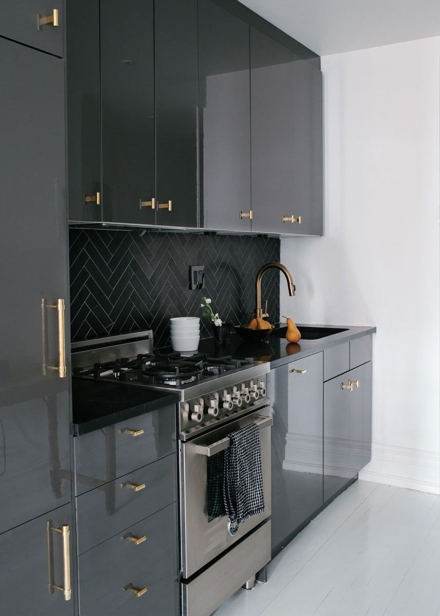 Best A Black And White Bachelor Pad In Brooklyn Kitchen 400 x 300