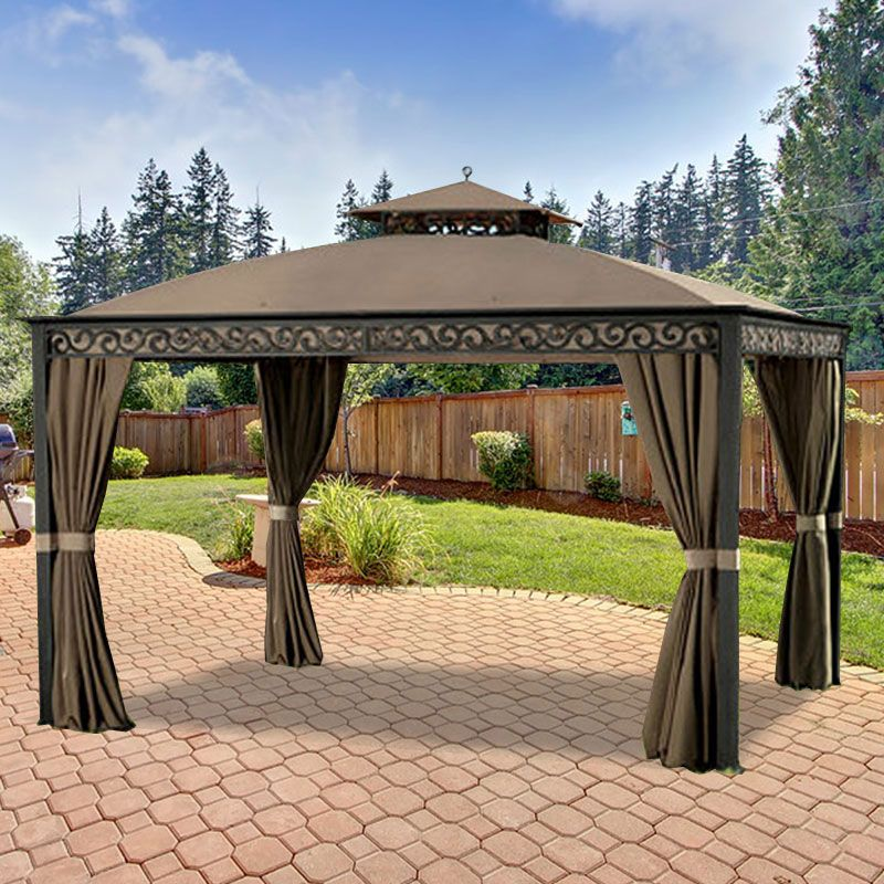 Southport 10u0027 x 12u0027 Gazebo Replacement Canopy - 350 & Southport 10u0027 x 12u0027 Gazebo Replacement Canopy - 350 | patio ideas ...