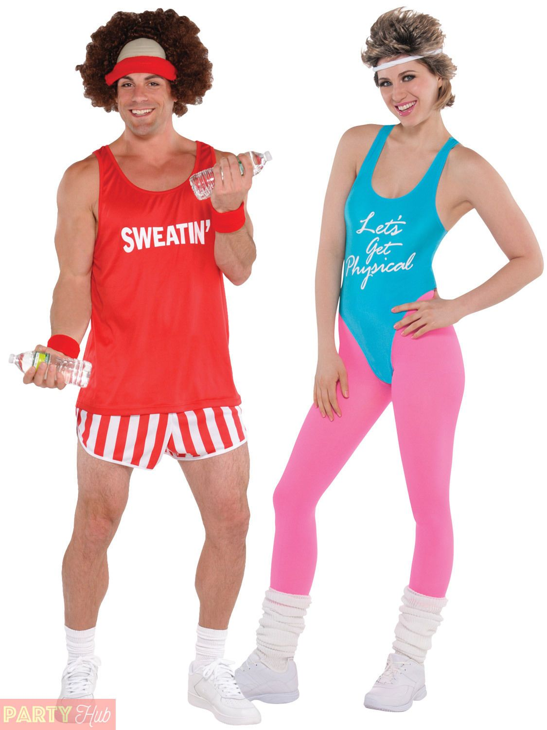 Mens 80s Funny Lets Get Physical Gym Work Out Costume Humour Party Fancy Dress