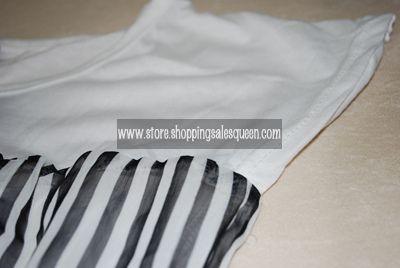 white is cotton, stripes are chiffon