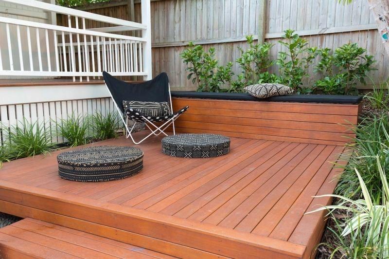 Aménagement petit jardin en 55 photos fascinantes! - terrasse bois avec bassin