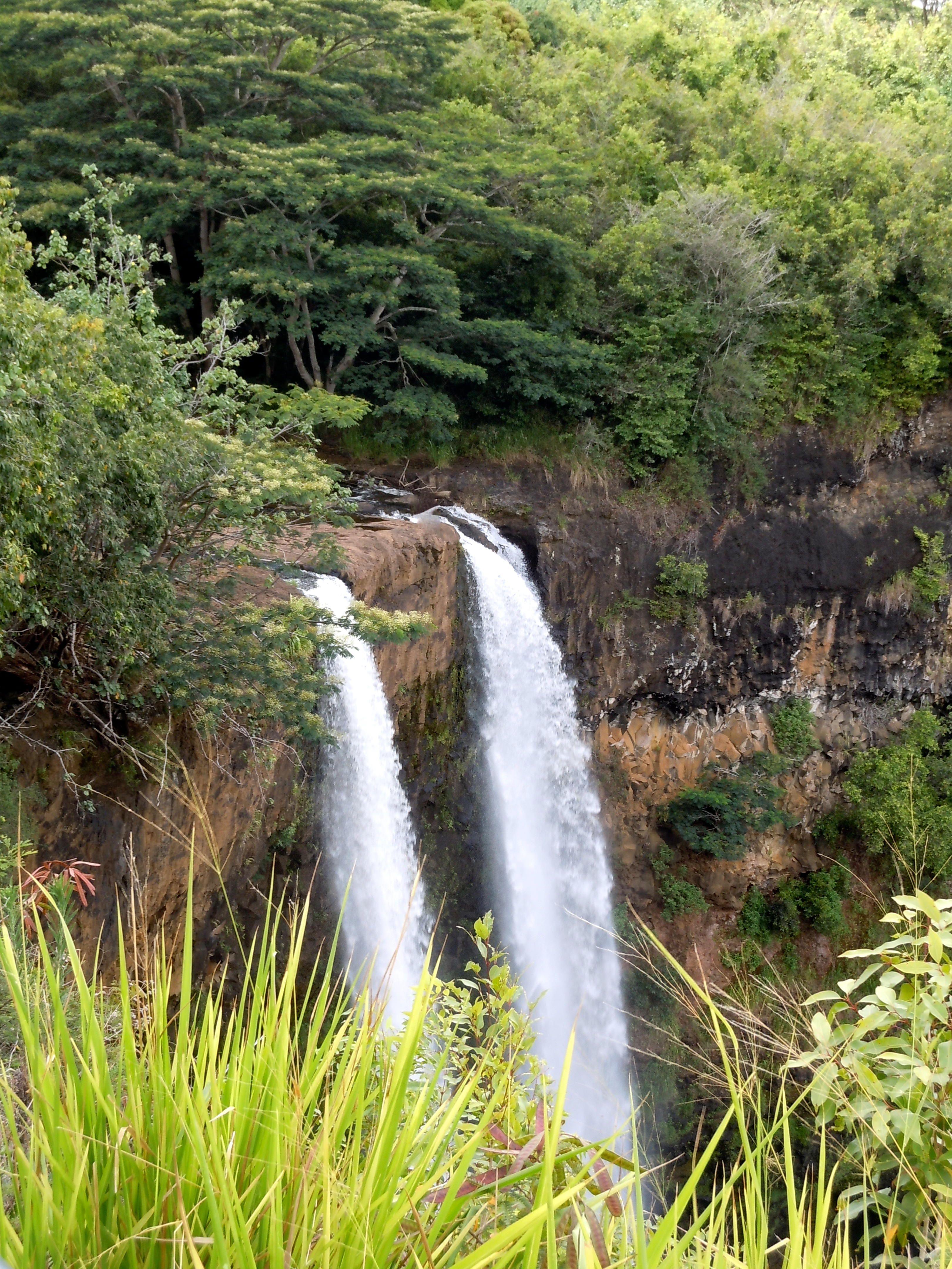 Wailuafalls Twinfalls Waimeacanyon Kauai Hawaii Like Craig