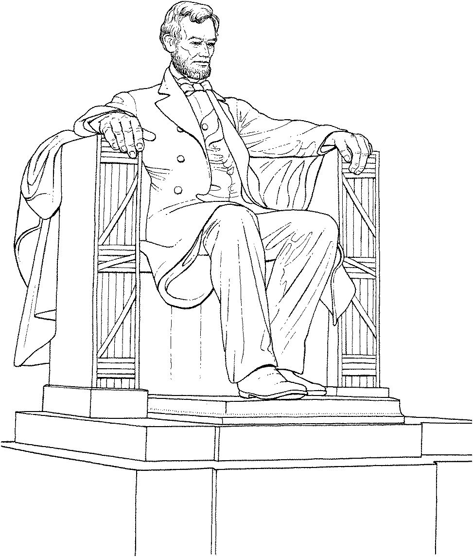 Abraham Lincoln Memorial Pose Coloring Book Lincoln Memorial Project Coloring Pages Toy Story Coloring Pages