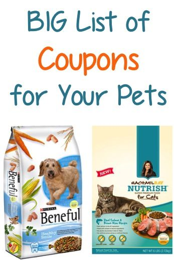 Big List Of Coupons For Your Pets Buy 1 Get 1 Free Purina 2 00