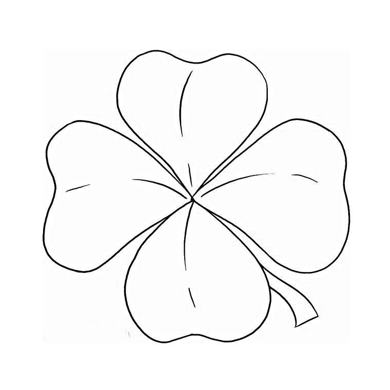 Coloriage tr fle quatre feuilles id es pour broderie - Dessin de feuille ...