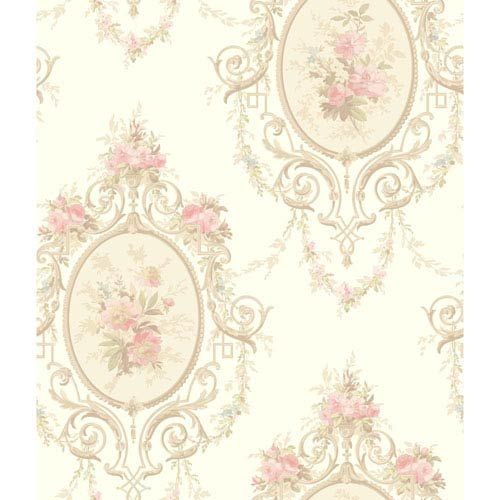 York Wallcoverings 120th Anniversary White and Pink