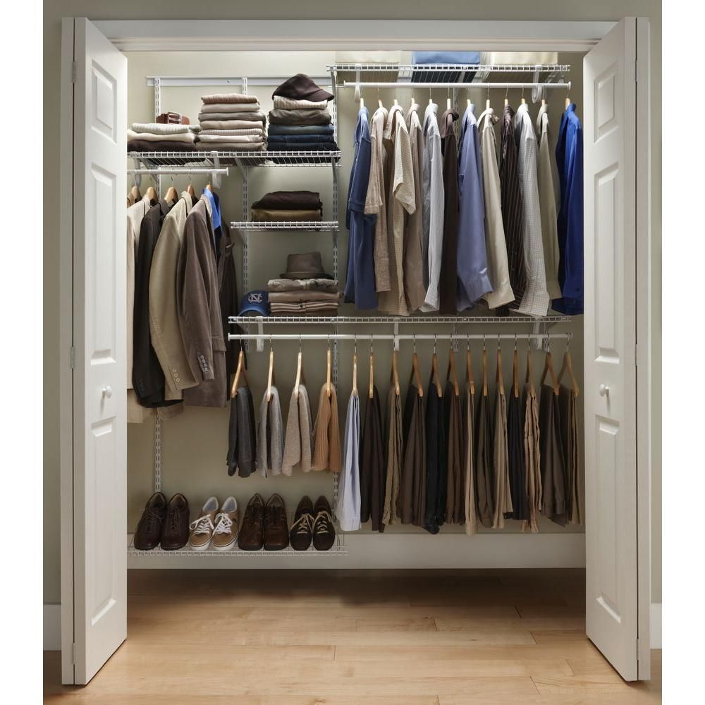 ClosetMaid ShelfTrack 5 Ft 8 Closet Organizer Kit With Shoe Shelf