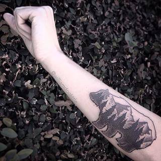 This forest within a bear. | Community Post: 21 Beautiful Tattoos Every Nature Lover Will Want