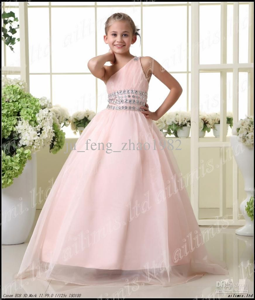 Girls pageant dresses beads flower girl kids princess for Dresses for teenagers for weddings