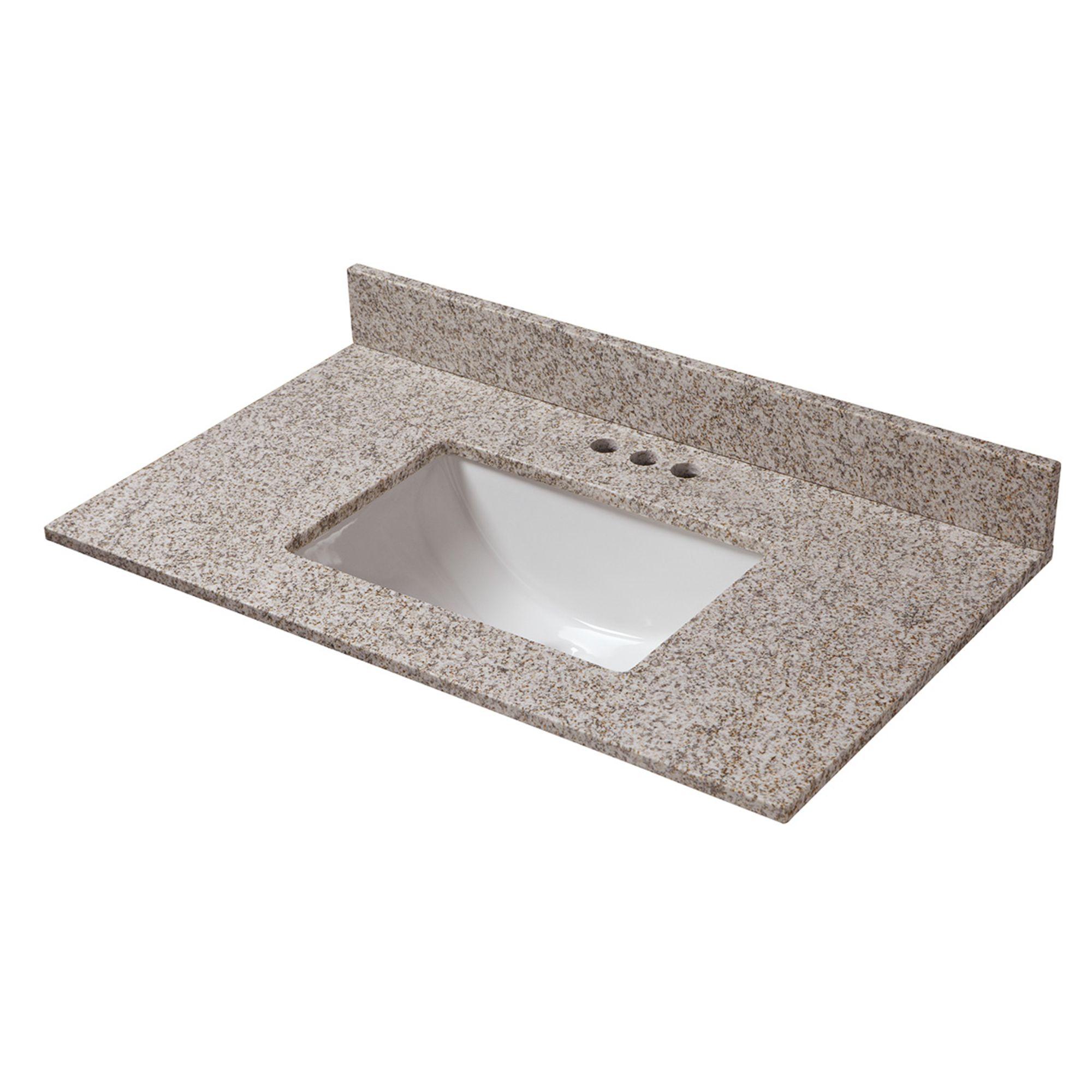 Cahaba 25 In X 19 In Golden Hill Granite Vanity Top With A