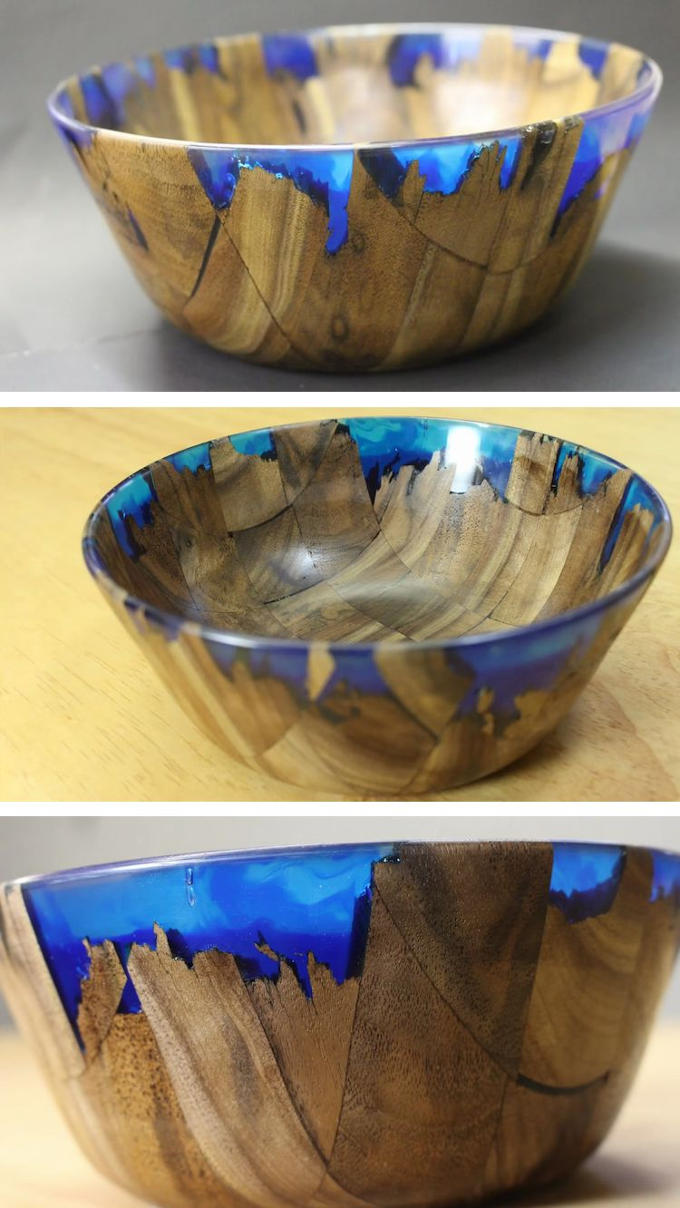 Diy Wood And Resin Bowl Captures The Beauty Of A