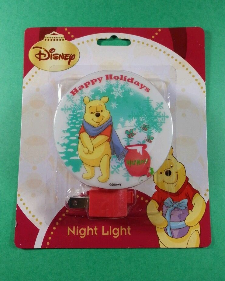 DISNEY WINNIE THE POOH CHRISTMAS NIGHT LIGHT -HAPPY HOLIDAYS - Shade