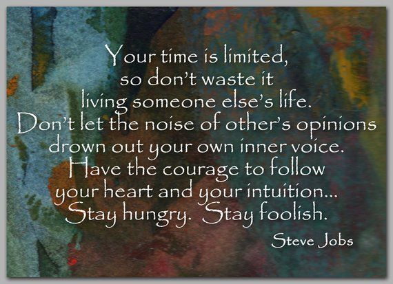 STEVE JOBS Inspirational Quote Graduation Card Also
