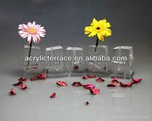 home decor/gift/crystal acrylic decorative vase/clear mini vase/ flower holder/plexiglas flower holder/flower bottle