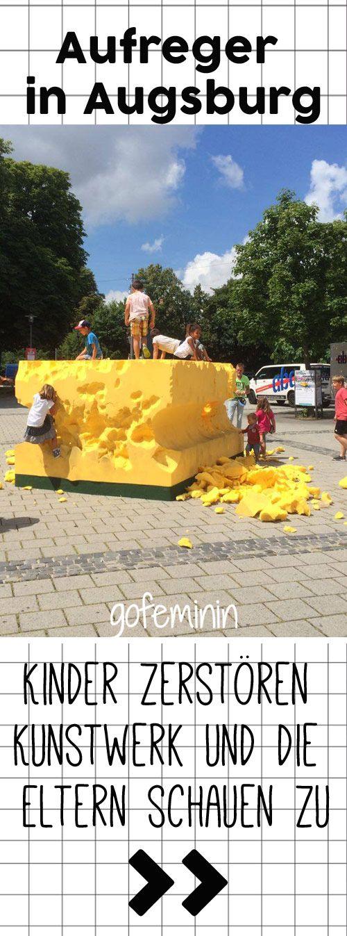 Kind zerstört kunstwerk