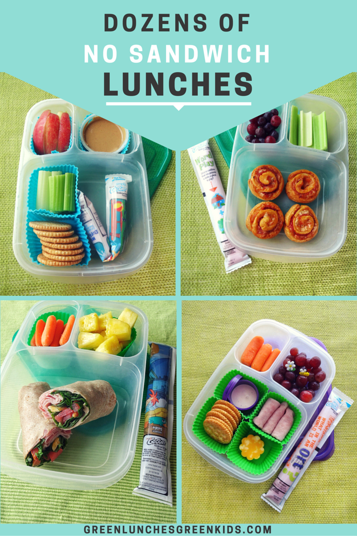 dozens of no sandwich lunches from green lunches, green kids | lunch