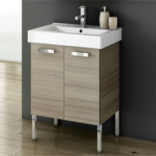 Acf Cubical 23 Inch Vanity Cabinet With Fitted Sink C20 Vanity