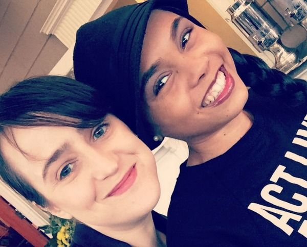 Mara Wilson and Kiami Davael reunite for us (Matilda and Lavender forever!!)  ps. The ORIGINAL Lavender. Years before Lavender Brown. She will always have my Lav-Love. <3