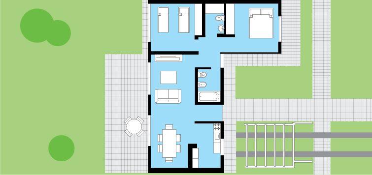 cl sica techo inclinado 2 dormitorios 8 66m procrear