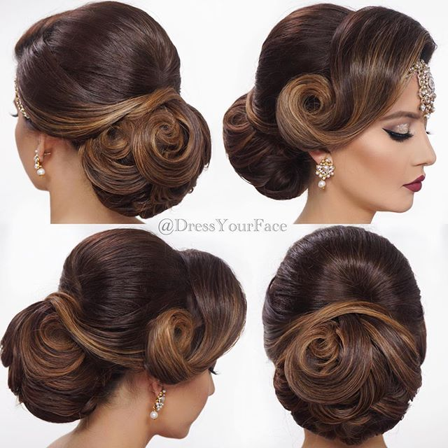 Learn How To Create My Signature Indian Bridal Updo Online Class Video Now Available On The Link In Bio This Is Hair Styles New Long Hairstyles Bridal Hair