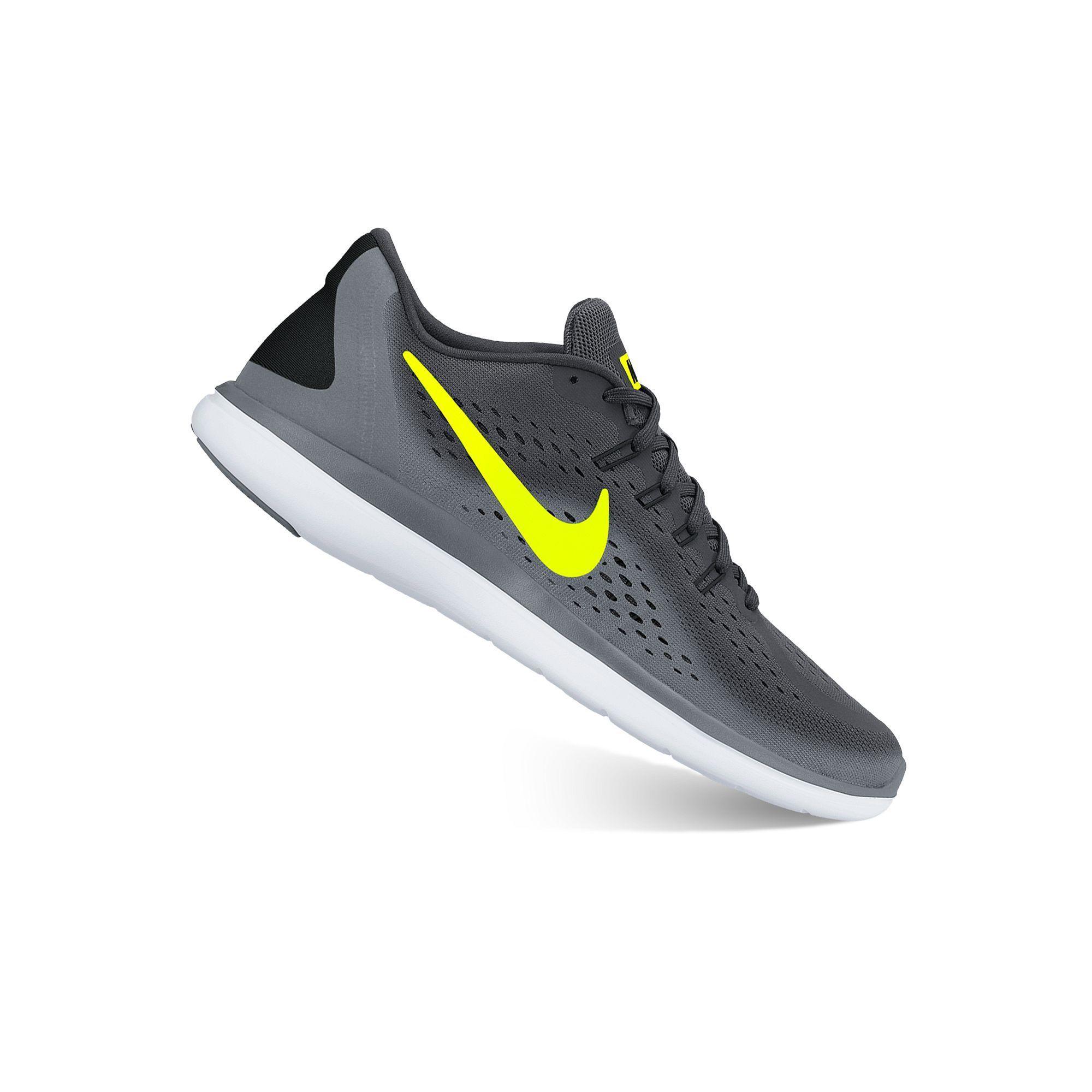 Nike Flex 2017 RN Men's Running Shoes, Size: 7, Black