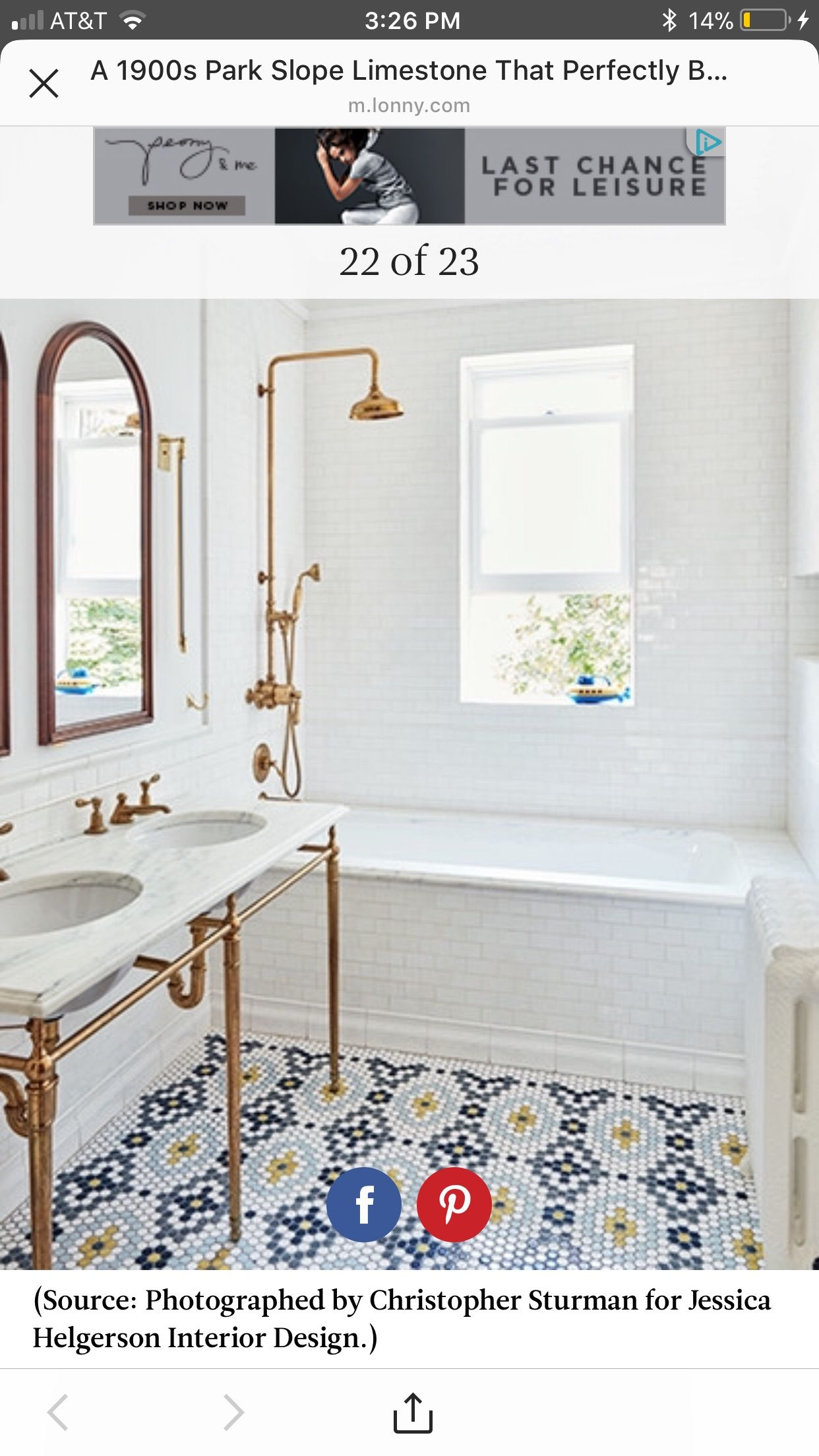 0fdd4123b05b Bad Inspiration, Bathroom Inspiration, Bathroom Inspo, Bathroom Interior,  Bathroom Goals, Brass