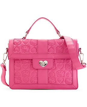 7126f84255 Hello Kitty Embossed Shoulder Bag - Handbags   Accessories - Macy s ...