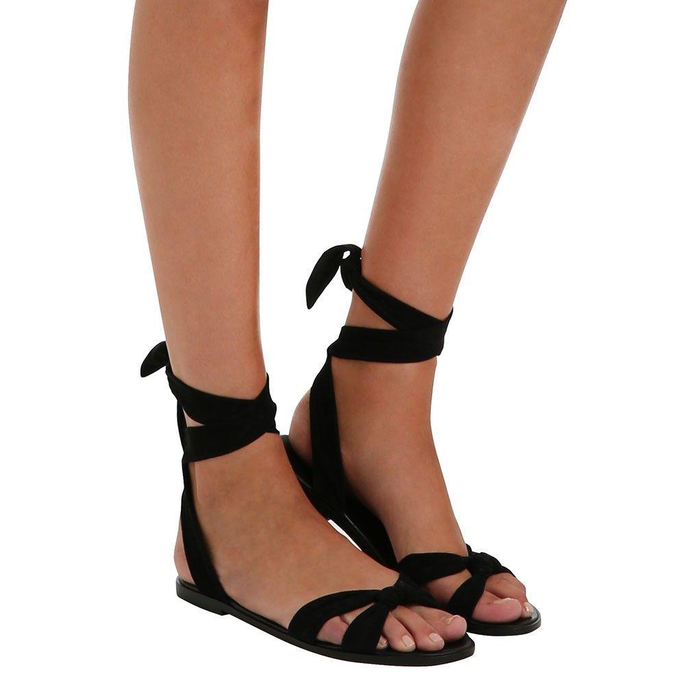 Loop Knot Ankle Tie Sandal