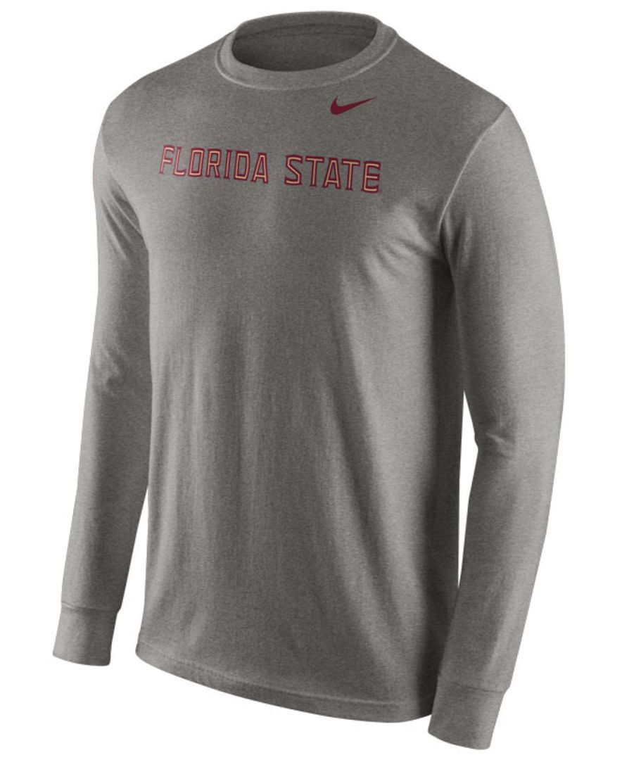 Nike Men's Long-Sleeve Florida State Seminoles Wordmark T-Shirt