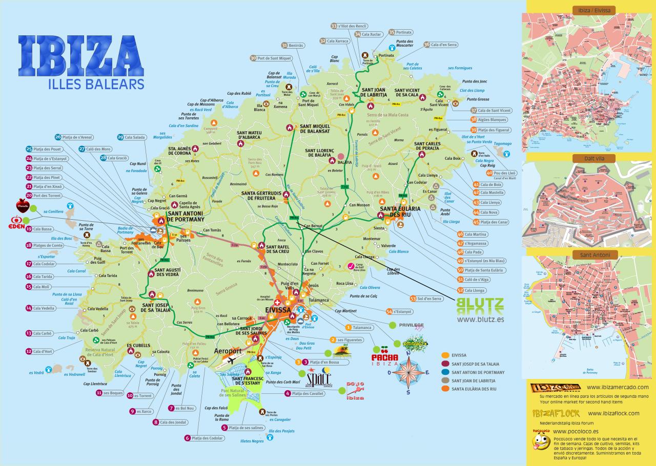 Kaart Ibiza Png 1280 910 Ibiza Spanje Ibiza Balearen