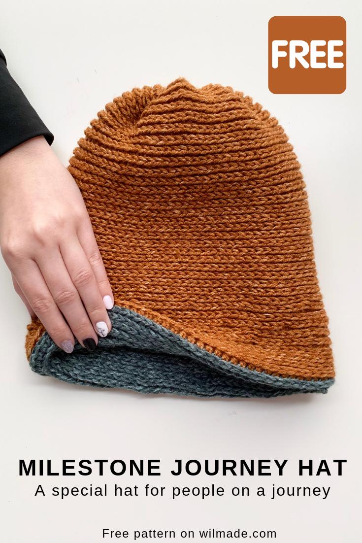 Milestone Journey Hat - free crochet hat pattern by #crochethats