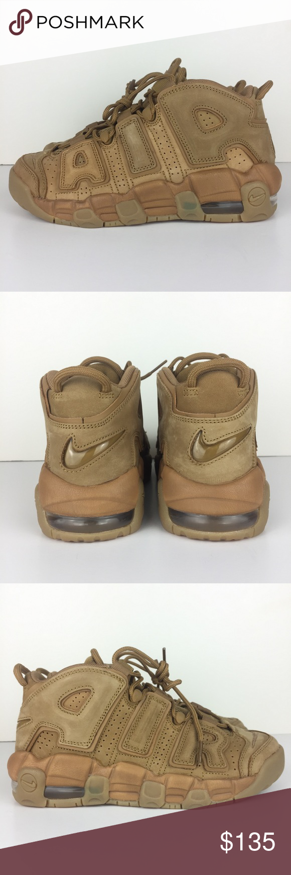 huge selection of 6eb88 cf442 Nike Air More Uptempo SE GS Youth Flax Wheat Gum Nike Air More Uptempo SE GS