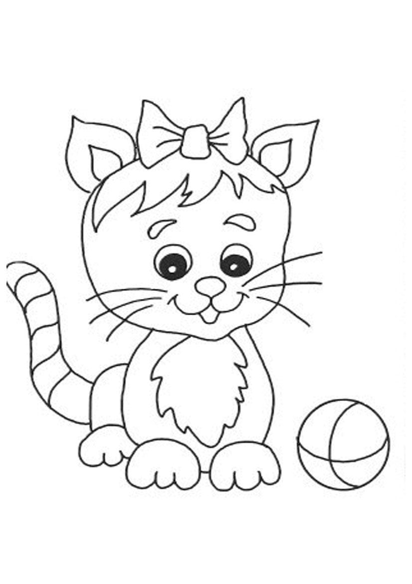 Cute Cat Coloring Pages Printable Cute Cat Coloring Pages Free