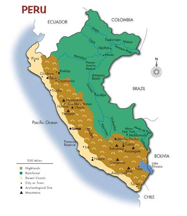 Map of peru southwind adventures book pinterest peru map of peru southwind adventures sciox Choice Image