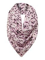 Poppy print silk scarf