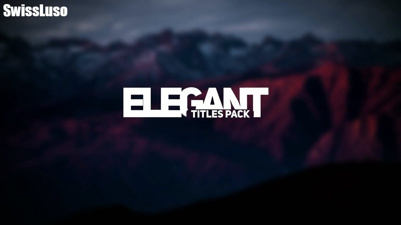 Free Template After Effect Modern Intro Titles Pack Lll Youtube Intro Templates