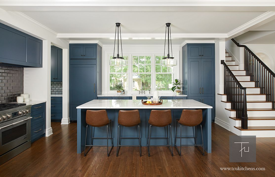 Grabill Cabinetry Madison Square Door Style In A Custom Color Narragansett Green Paint Transitional Kitchen Design Green Kitchen Cabinets Kitchen Solutions